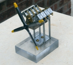 V-8 cylinder engine model airplane plan