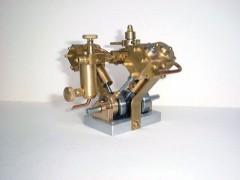 """""""V"""" cylinder engine model airplane plan"""