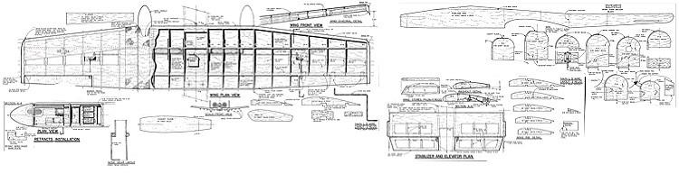 A-10 RCM less parts model airplane plan