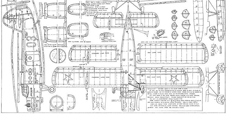 "Antonov AN-2 Colt (resized to 48"" span) model airplane plan"