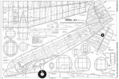 DC-3 <36 inch span, resized> model airplane plan
