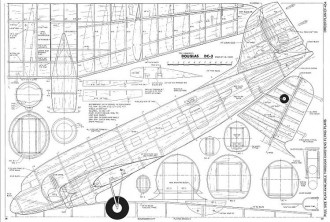 DC-3 <36 inch span, resized> model airplane plan