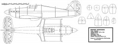 Hawker Hurricane 80 in span (resized) model airplane plan