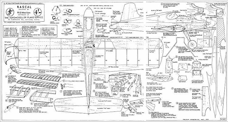 Rascal model airplane plan