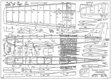 Faraon model airplane plan