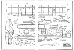 Firefly Plan 334 65cm model airplane plan
