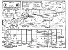 elf cat 95cm model airplane plan