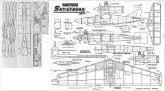 kk-skystreak 95cm model airplane plan