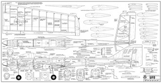 ufo bridi 140cm model airplane plan