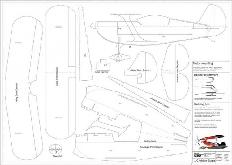 Christen Eagle model airplane plan