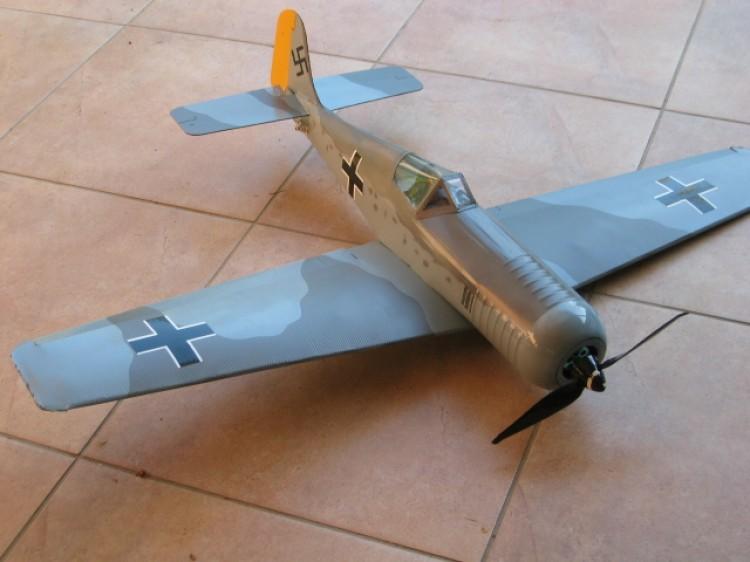 FW-190 model airplane plan