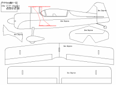 Pitts Model 12 - Mini model airplane plan