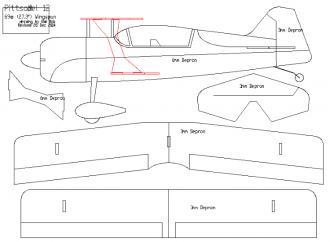 Pitts Model 12 - Mini model airplane plan