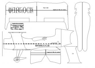 Warlock version 2 model airplane plan