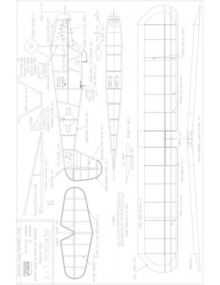 Aeronca L-3 model airplane plan