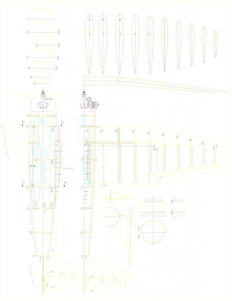Aichi D3A2 Val model airplane plan