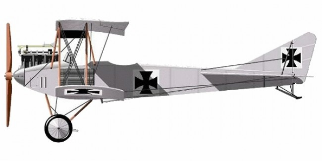 Albatross B.I model airplane plan