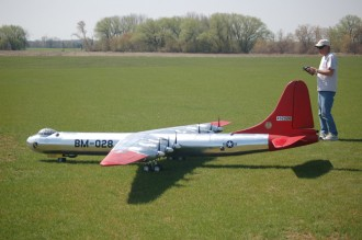 Convair B-36B model airplane plan