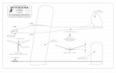Bicep Builder BW print vector model airplane plan