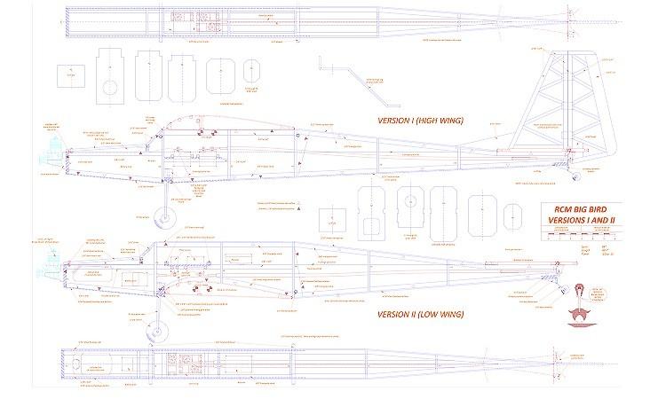 Big Bird I and II model airplane plan