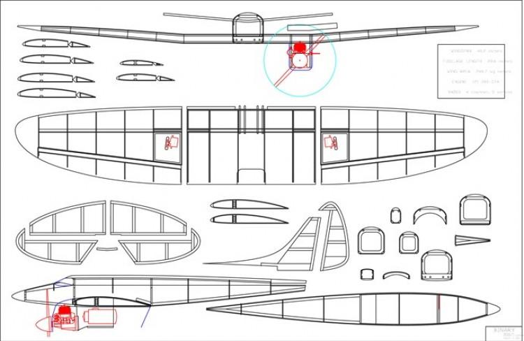 Binary Twin model airplane plan