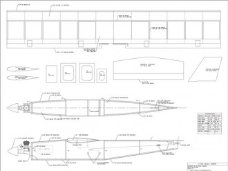 Buzz Bomb model airplane plan