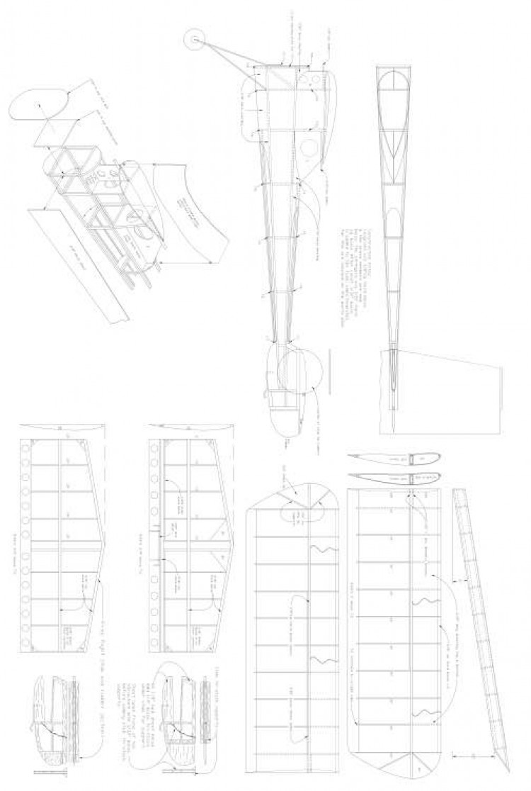 Chihuahua PDFvector CAD model airplane plan