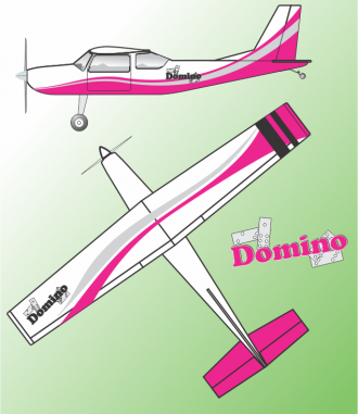 Domino model airplane plan