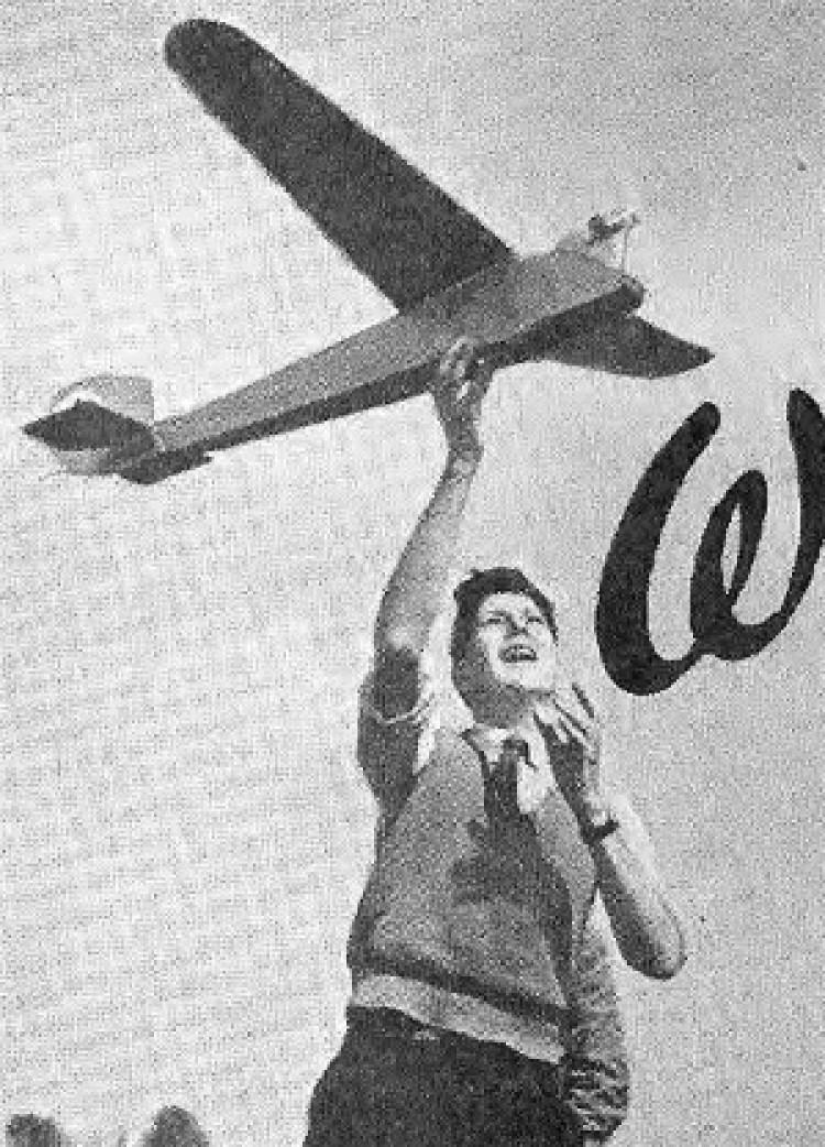 English Electric Wren model airplane plan