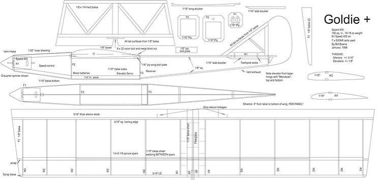 Goldie model airplane plan