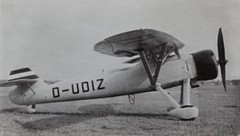 Henschel HS-122B model airplane plan