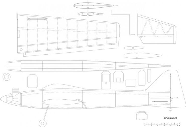 Moonracer model airplane plan