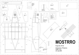 Mostrro XP-05 model airplane plan