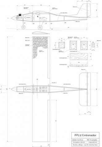 PPLU Entrenador model airplane plan