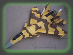 SU-37 Terminator model airplane plan