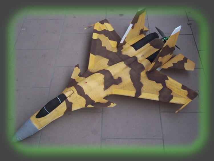 SU-37 Terminator model airplane plan