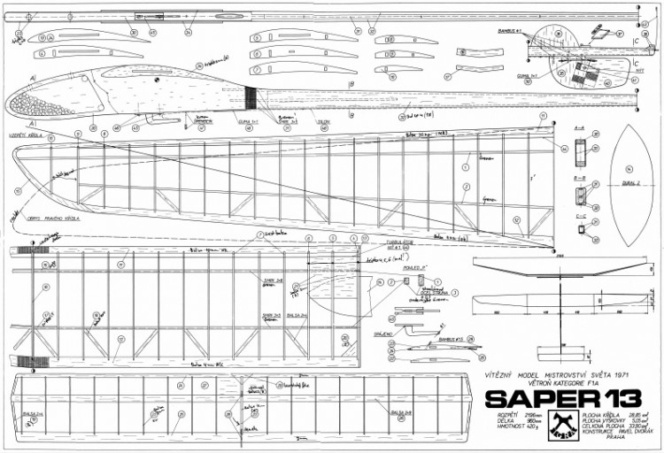 Saper 13 model airplane plan