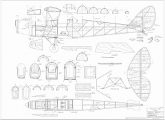 "Tiger Moth 48"" - Electric model airplane plan"