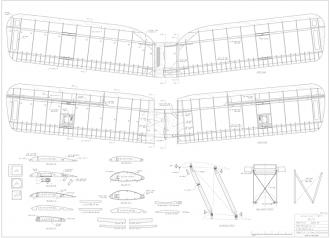 "Tiger Moth 48"" - Electric model airplane plan"