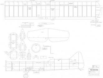 Time Machine model airplane plan