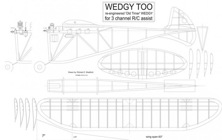 Wedgy Too model airplane plan