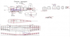 Agwagon vector model airplane plan