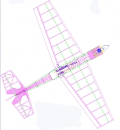 AMP 015 SPORT rc model model airplane plan