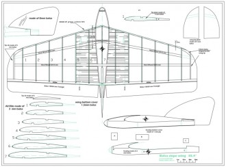 slope wing glider model airplane plan