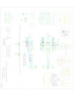 Dehavillan DH88 Comet model airplane plan