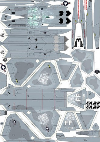 F22_raptor_decal model airplane plan