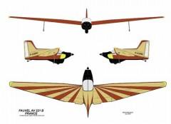 Fauvel AV 221 model airplane plan
