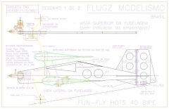 Hots 40 Bipe model airplane plan