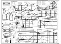 Miles Hawk BW Print model airplane plan