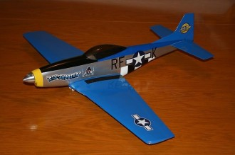 P-51D model airplane plan